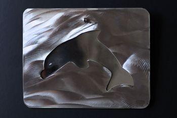 Spiegel mit Delfinausschnitt