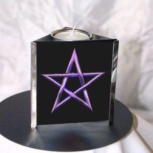 Teelichtleuchter Pentagram