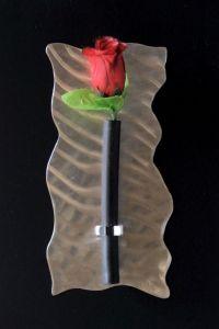 Wand-Rosenhalter aus Edelstahl